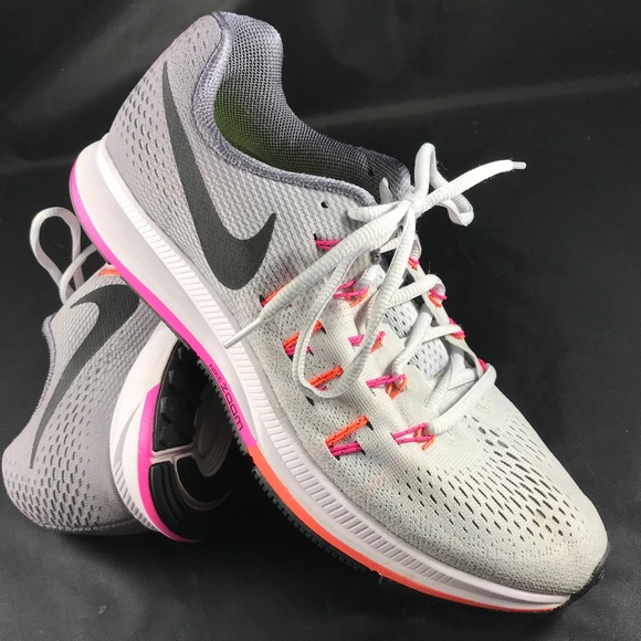 buy popular lace up in low price sale Nike AIR ZOOM Pegasus 33 Grey White Pink 9.5 41